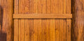 Wooden wall with beam and columns constructed from teak wood for background texture Stock Photography
