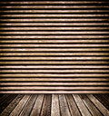 Wooden Wall and Floor Stock Photo