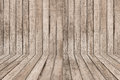 Wooden wall and floor for background Royalty Free Stock Photography