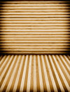 Wooden wall and floor background with vertica horizontal lines Royalty Free Stock Photo