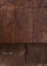 Wooden wall and floor empty for design Royalty Free Stock Images