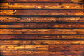 Wooden wall horizontal beams in a Stock Image