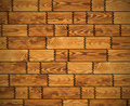 Wooden wall - vector background Stock Image