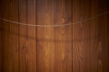 Wooden wall with wire linen
