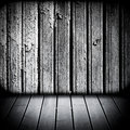 Wooden walls and floor Royalty Free Stock Photo
