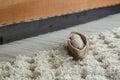 Wooden weaving loom tool Royalty Free Stock Image