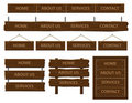 Wooden web menu. Royalty Free Stock Photo