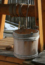 Wooden well bucket Stock Photo