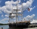 Wooden whaling ship Royalty Free Stock Photo