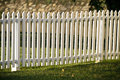 Wooden White Picket Fence At Sunset Royalty Free Stock Photo