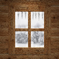 Wooden window Stock Photography