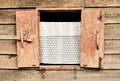 Wooden Window At Ancient Build...