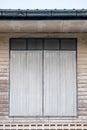 Wooden Window Ancient On Decor...