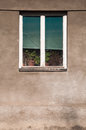 Wooden window on old village house Royalty Free Stock Photo