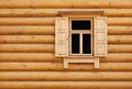 Wooden window with shutter doors Royalty Free Stock Photo