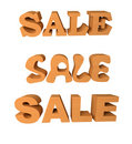 Wooden word sale Royalty Free Stock Image