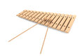 Wooden xylophone with mallets on a white background Stock Image