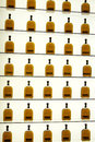 Woodford reserve visitors center bottle display versailles ky usa october bourbon bottles on inside Royalty Free Stock Photo