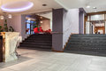 Woodland hotel wide stairs entrance bar Royalty Free Stock Photos