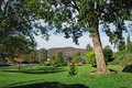 Woodland park in laguna woods retirement community one of many small parks within the premier of southern california is is Royalty Free Stock Photo