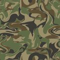 Woodland seamless camouflage pattern. Masking vector background. Green brown black olive colors