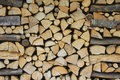 Woodpile background with trunks Royalty Free Stock Photo