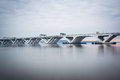 The Woodrow Wilson Bridge, over the Potomac River, seen from Ale Royalty Free Stock Photo