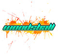 Woodsball is a format of paintball gaming icon colorful banner eps available Stock Photography