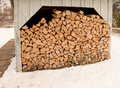 Woodshed Stock Photo