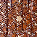 Woodwork artistic detail in a mosque turkey Stock Image