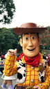 Woody the cowboy on a parade in disneyland character from toy story movie franchise flights of fantasy hong kong Royalty Free Stock Images