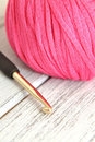 Wool and Crochet Hook Stock Image