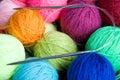 Wool knitting Royalty Free Stock Photo
