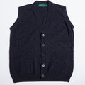 Wool vest vintage men s blue cardigan Stock Photo