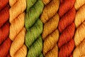 Wool yarn twisted skeins Stock Image