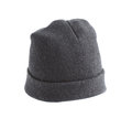 Woolen hat black isolated on white background Stock Photography