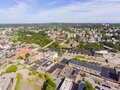 Woonsocket downtown aerial view, Rhode Island, USA