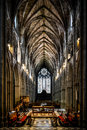 Worcester cathedral the inside of the Royalty Free Stock Photo