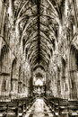 Worcester cathedral nave black and white hdr photography england april Royalty Free Stock Images