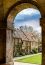 Worcester college view through an arc at the main entrance Stock Image