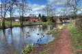 Worcestershire canal the and birmingham withybed green alvechurch england Stock Photo