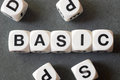 Word basic on toy cubes