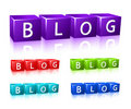 Word blog composed from letter cubes Stock Photography