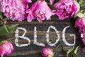 Word Blog with Pink Peonies
