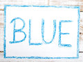 Word BLUE Royalty Free Stock Photo