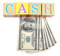 Word cash Stock Photos