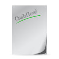 Word cashflow written on a white paper Royalty Free Stock Photo