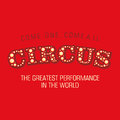 The word Circus on a red background. Vector. Royalty Free Stock Photo