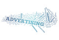 Word cloud advertising illustration with related tags Royalty Free Stock Image