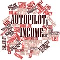 Word cloud for Autopilot Income Royalty Free Stock Photo